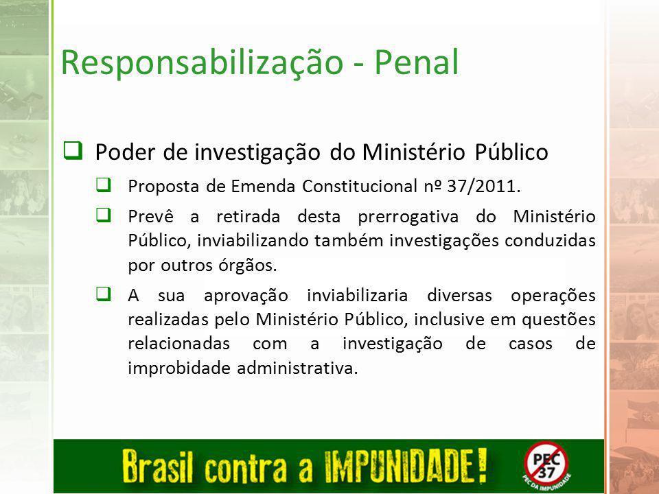 Responsabilização - Penal