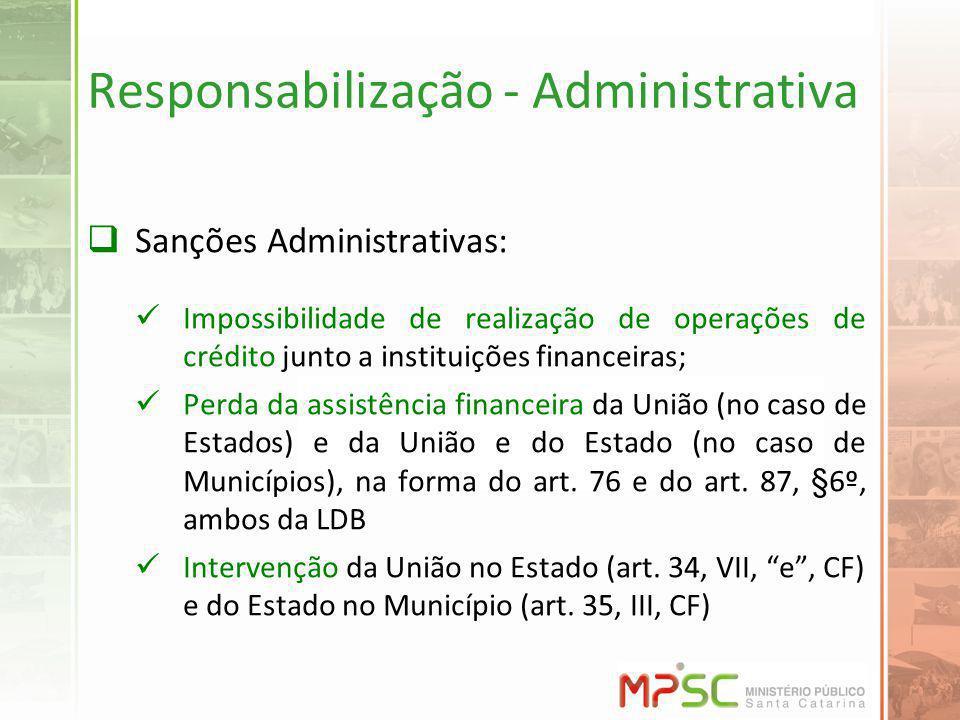 Responsabilização - Administrativa
