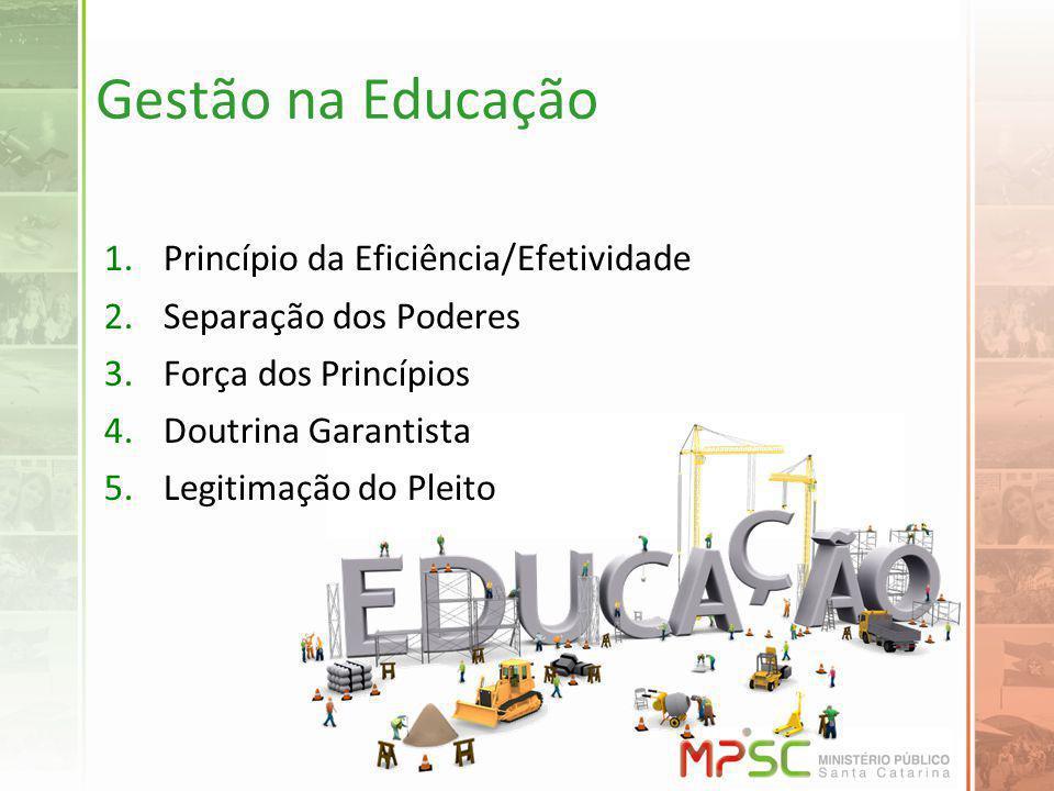 Gestão na Educação Princípio da Eficiência/Efetividade