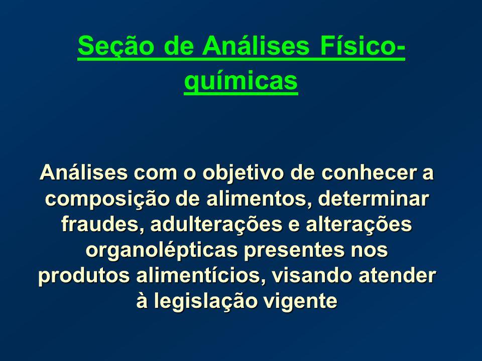 Seção de Análises Físico-químicas