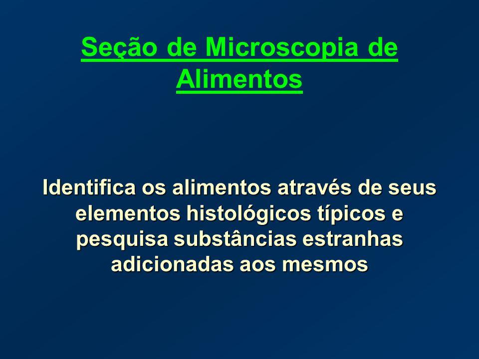 Seção de Microscopia de Alimentos