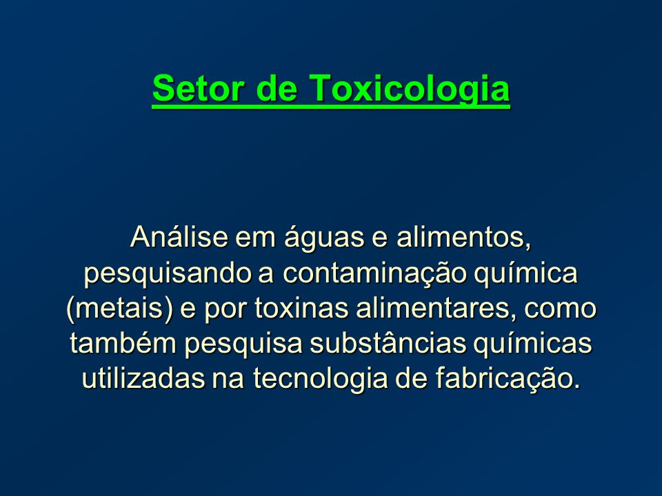 Setor de Toxicologia