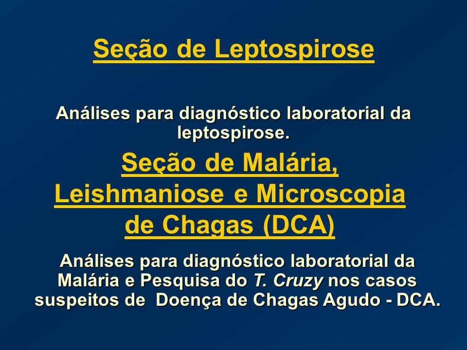 Seção de Malária, Leishmaniose e Microscopia de Chagas (DCA)