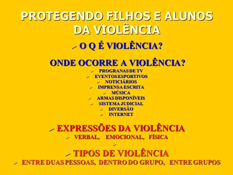 PROTEGENDO FILHOS E ALUNOS DA VIOLÊNCIA