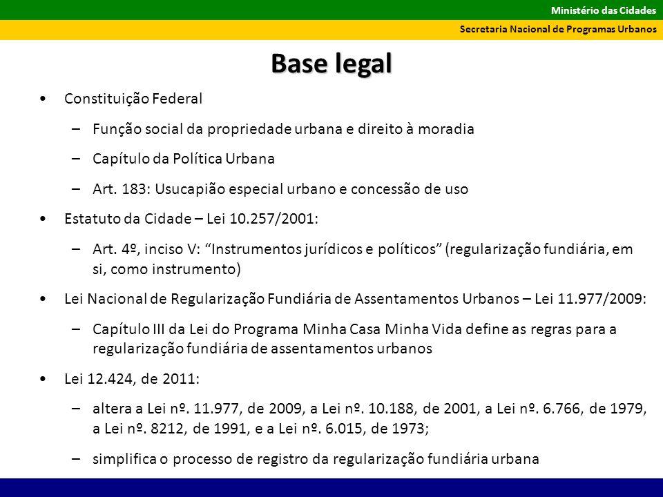 Base legal Constituição Federal