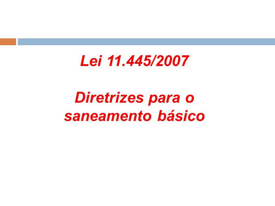 Diretrizes para o saneamento básico
