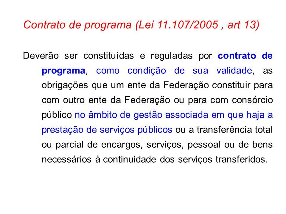 Contrato de programa (Lei 11.107/2005 , art 13)