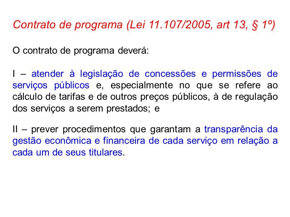 Contrato de programa (Lei 11.107/2005, art 13, § 1º)