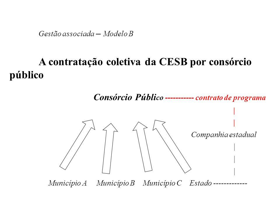 A contratação coletiva da CESB por consórcio público