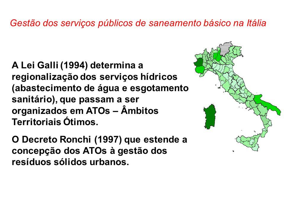 Gestão dos serviços públicos de saneamento básico na Itália
