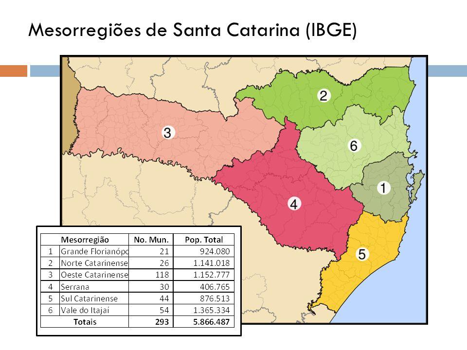 Mesorregiões de Santa Catarina (IBGE)