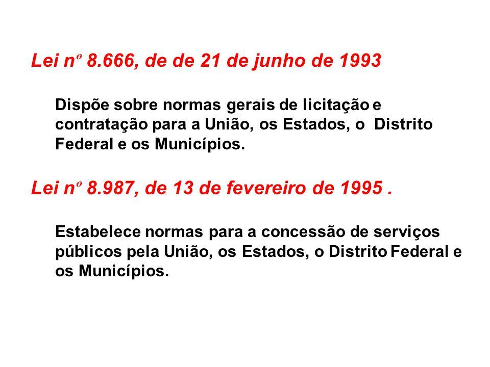 Lei nº 8.987, de 13 de fevereiro de 1995 .