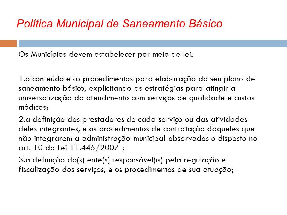 Política Municipal de Saneamento Básico