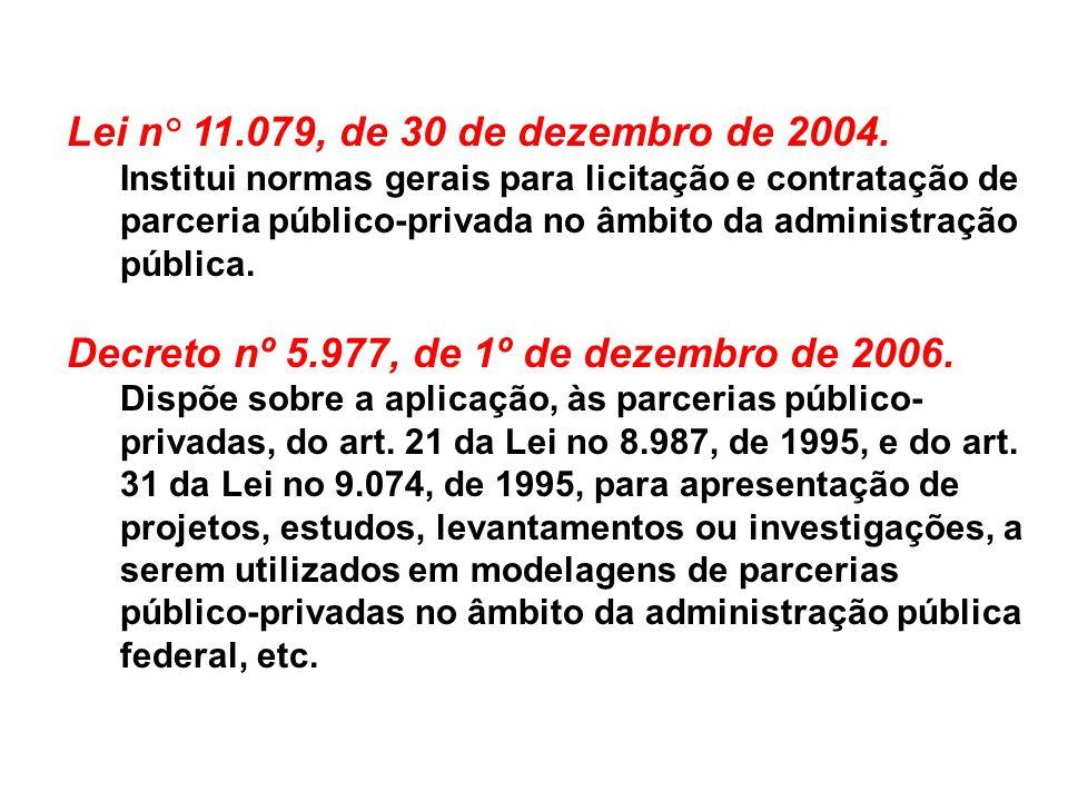 Decreto nº 5.977, de 1º de dezembro de 2006.