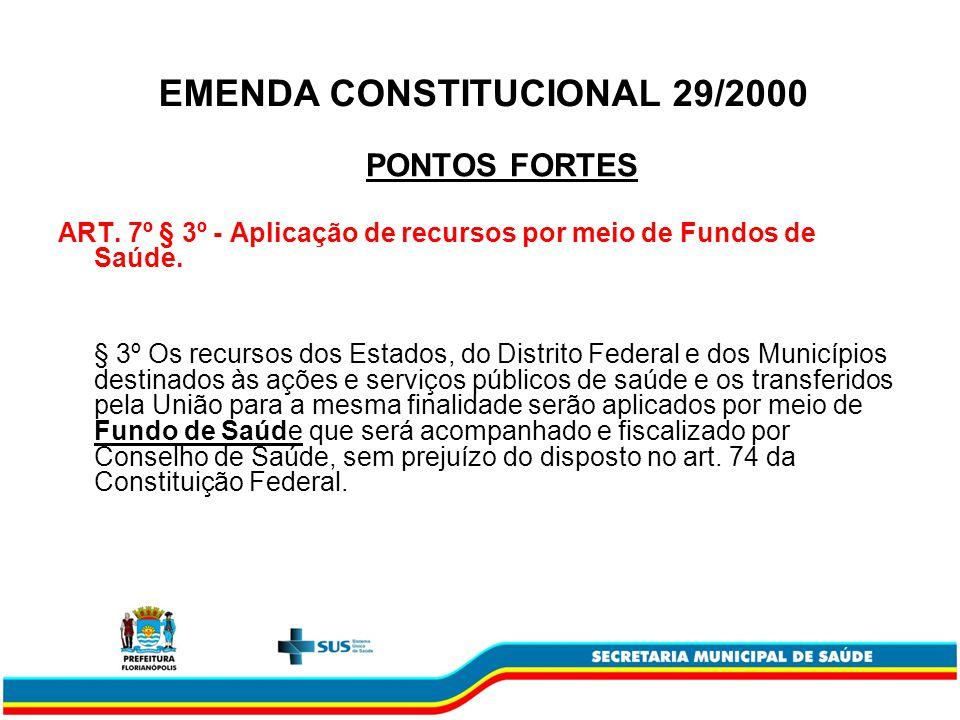 EMENDA CONSTITUCIONAL 29/2000