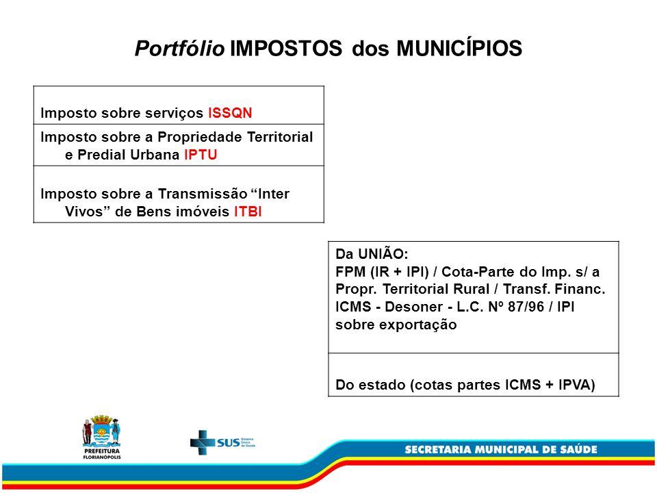 Portfólio IMPOSTOS dos MUNICÍPIOS