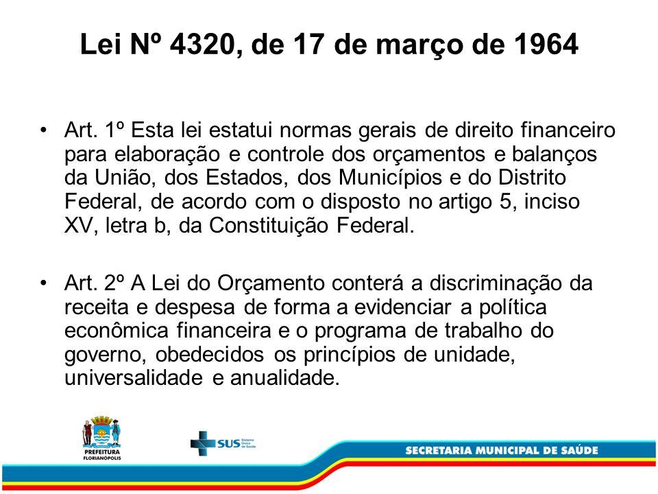 Lei Nº 4320, de 17 de março de 1964