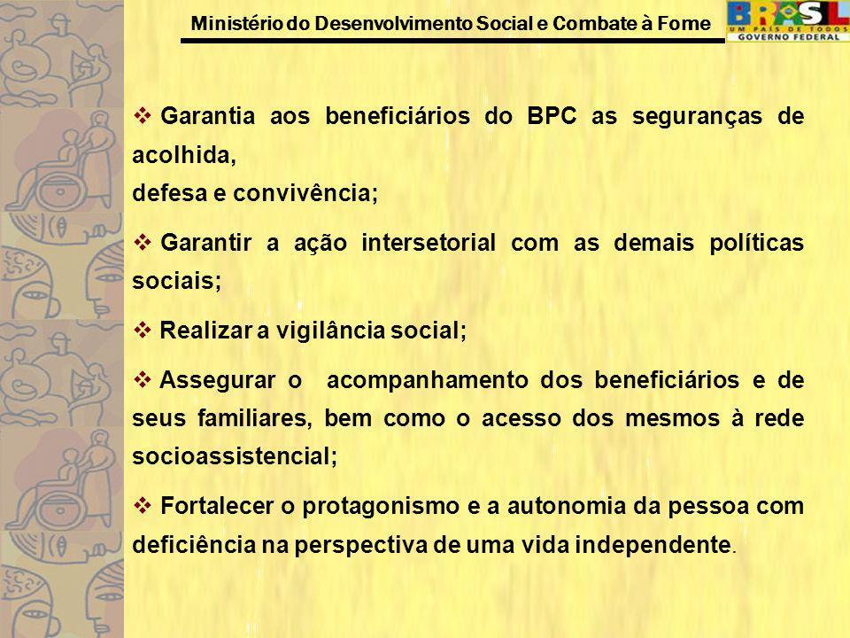 Garantia aos beneficiários do BPC as seguranças de acolhida,