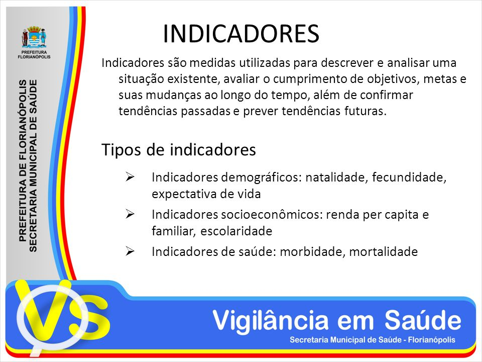 INDICADORES Tipos de indicadores