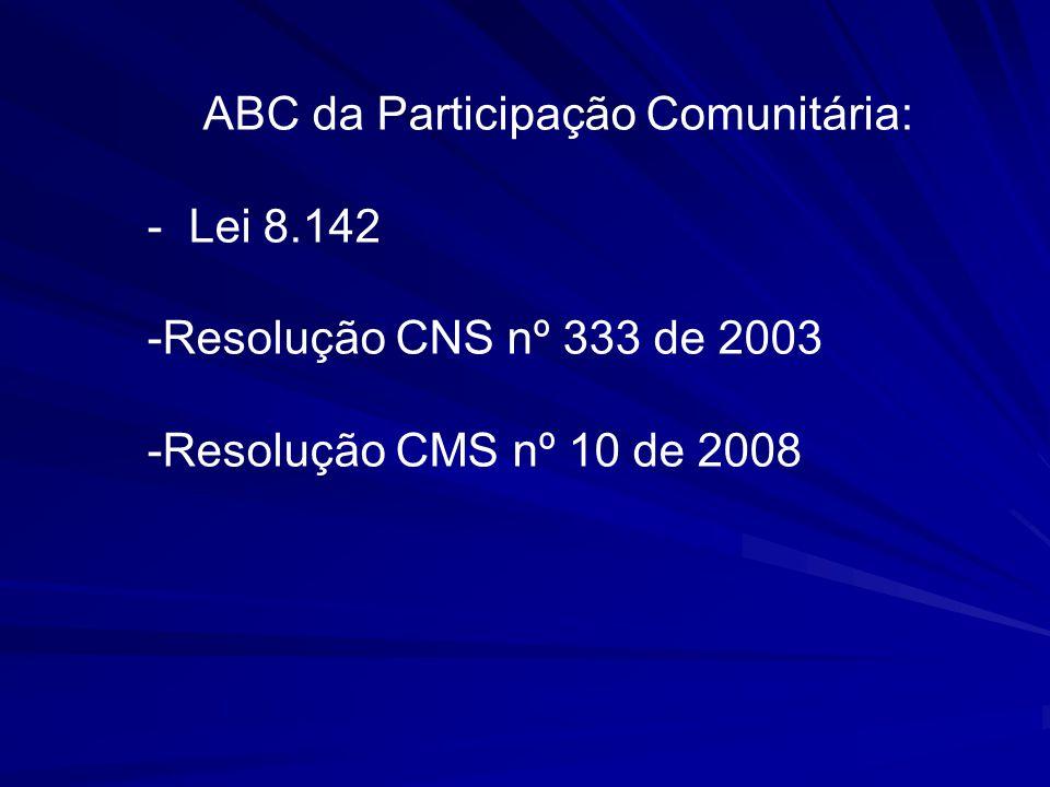 ABC da Participação Comunitária: