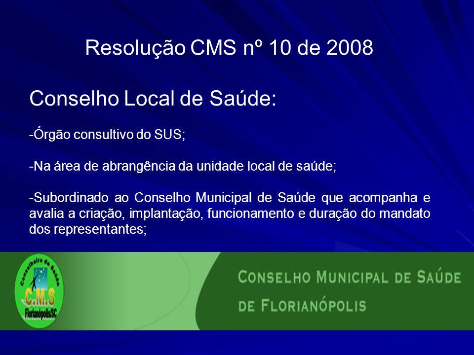 Conselho Local de Saúde:
