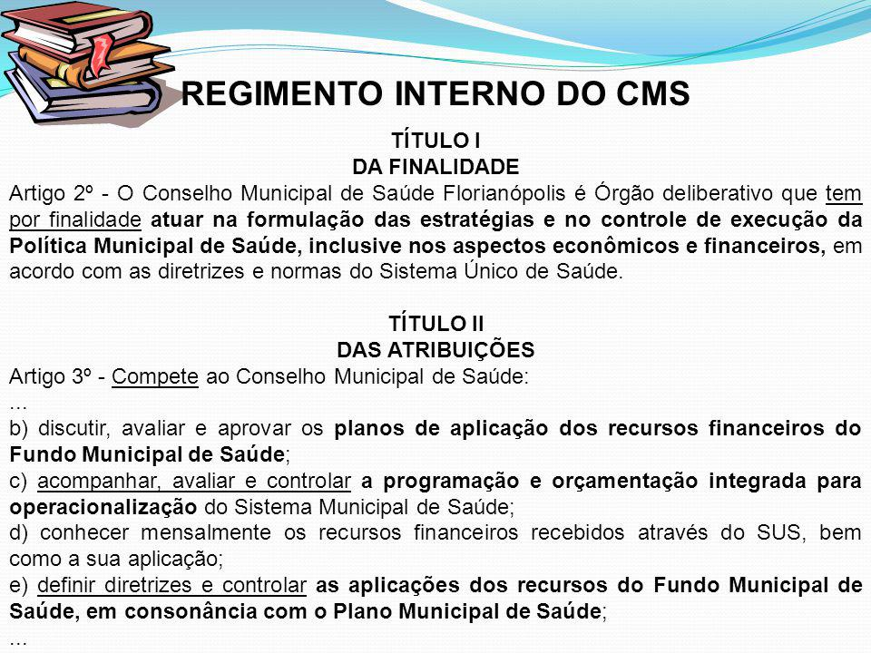 REGIMENTO INTERNO DO CMS