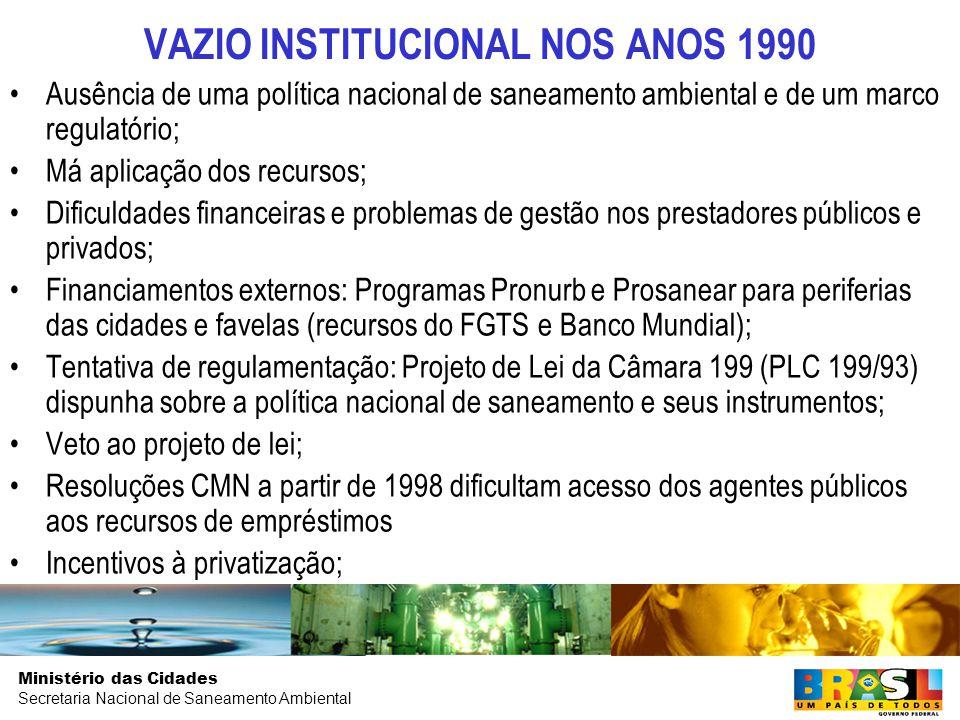 VAZIO INSTITUCIONAL NOS ANOS 1990