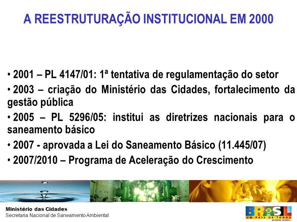 A REESTRUTURAÇÃO INSTITUCIONAL EM 2000