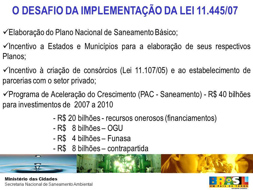 O DESAFIO DA IMPLEMENTAÇÃO DA LEI 11.445/07
