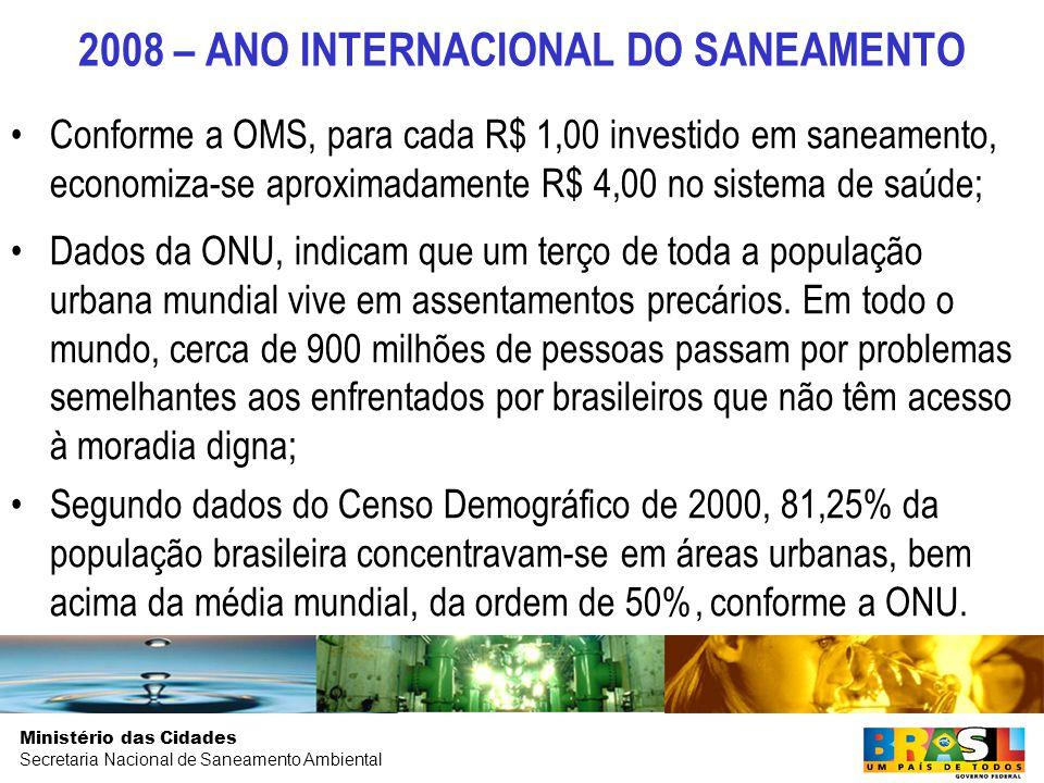2008 – ANO INTERNACIONAL DO SANEAMENTO
