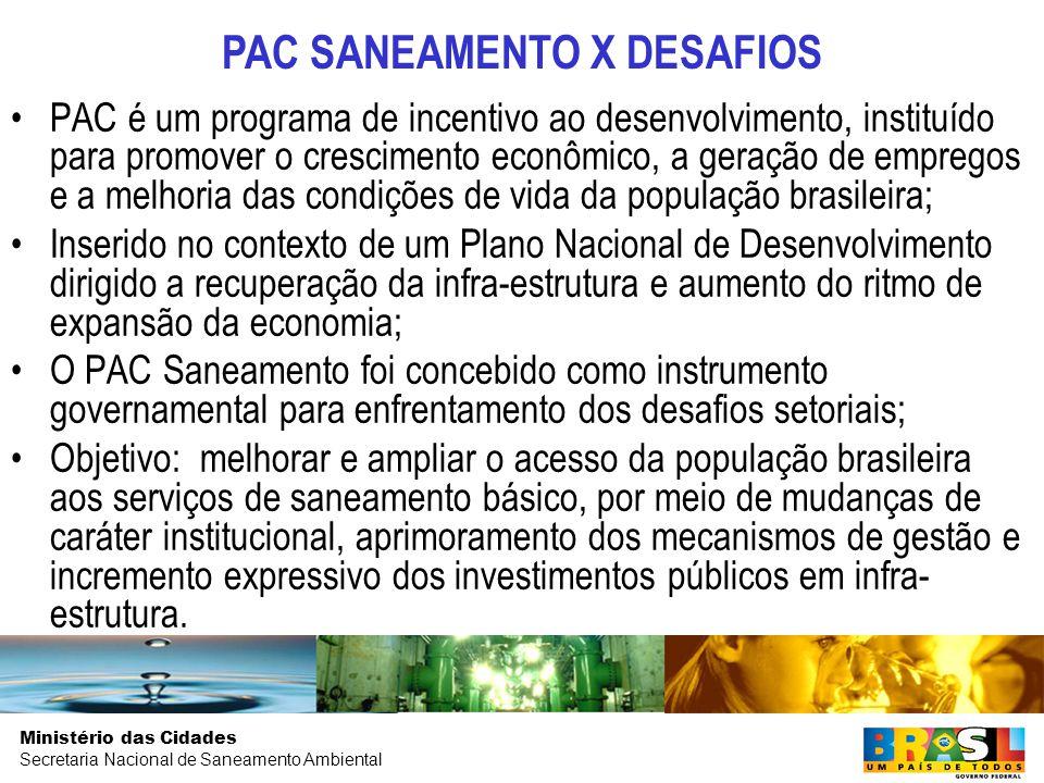 PAC SANEAMENTO X DESAFIOS