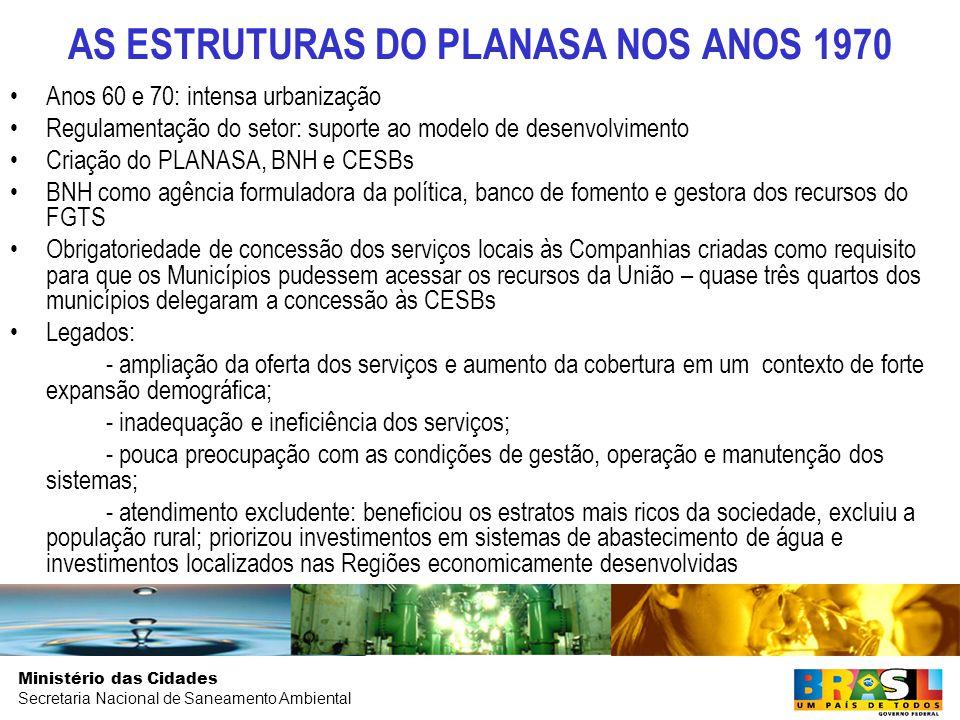 AS ESTRUTURAS DO PLANASA NOS ANOS 1970