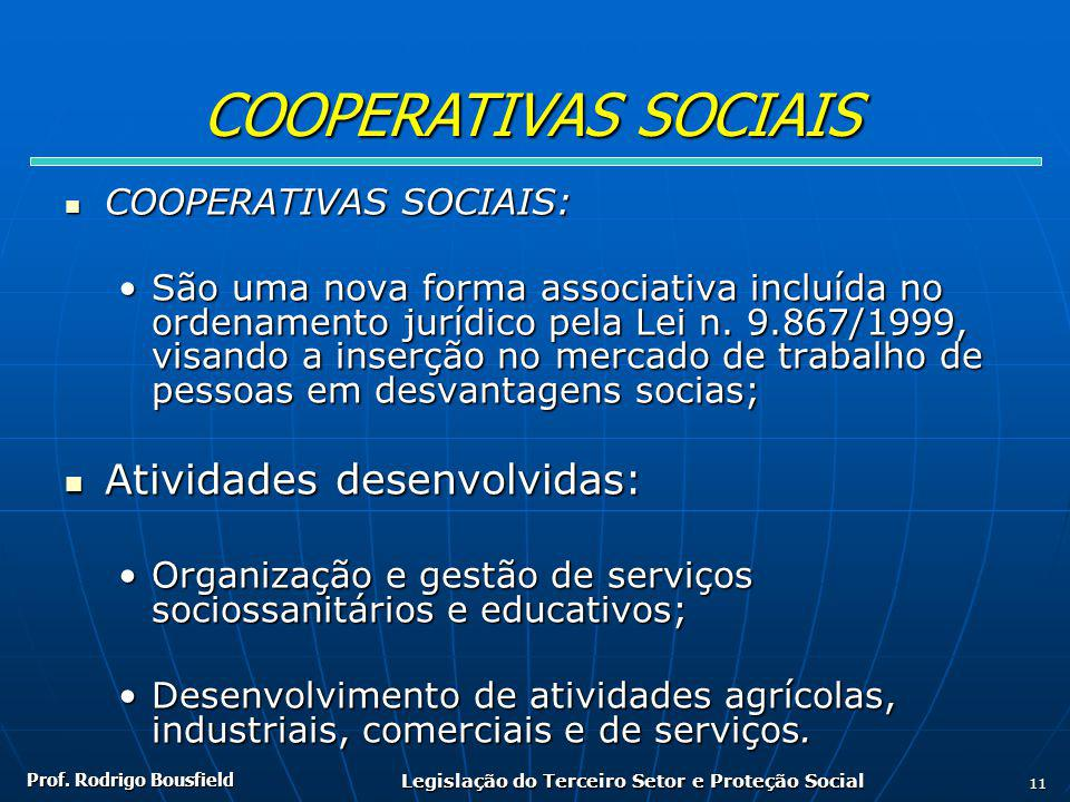 Legislação do Terceiro Setor e Proteção Social