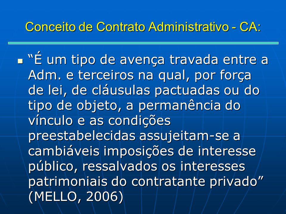 Conceito de Contrato Administrativo - CA: