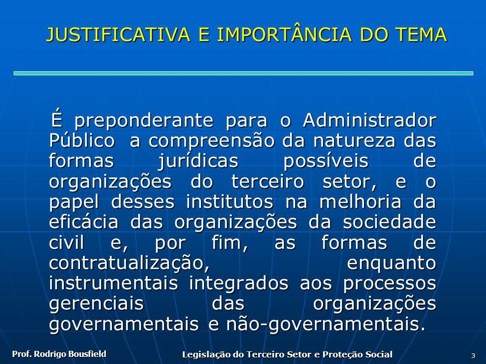 JUSTIFICATIVA E IMPORTÂNCIA DO TEMA