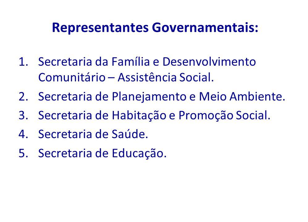 Representantes Governamentais: