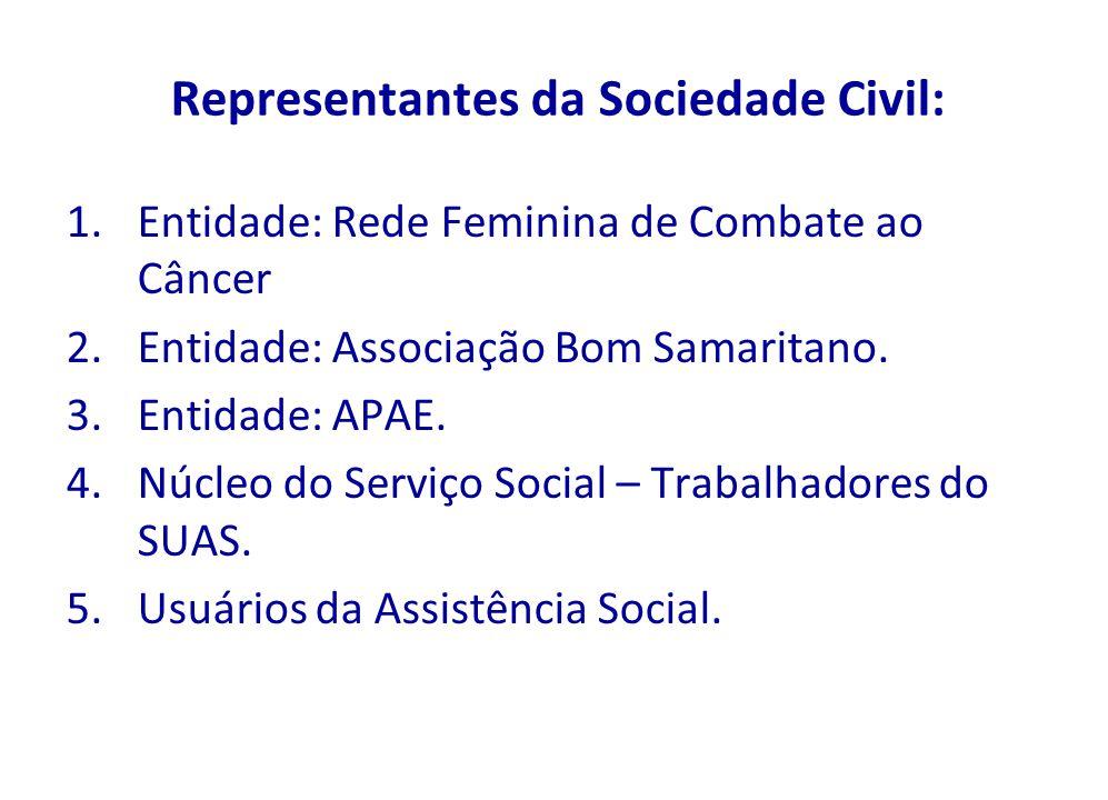 Representantes da Sociedade Civil: