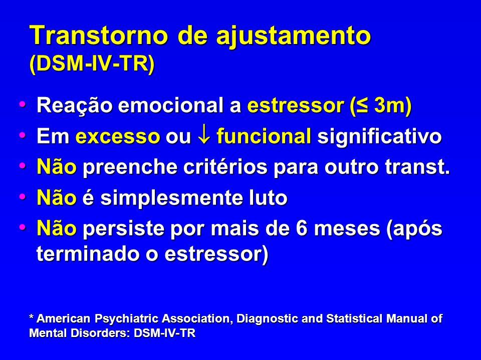 Transtorno de ajustamento (DSM-IV-TR)