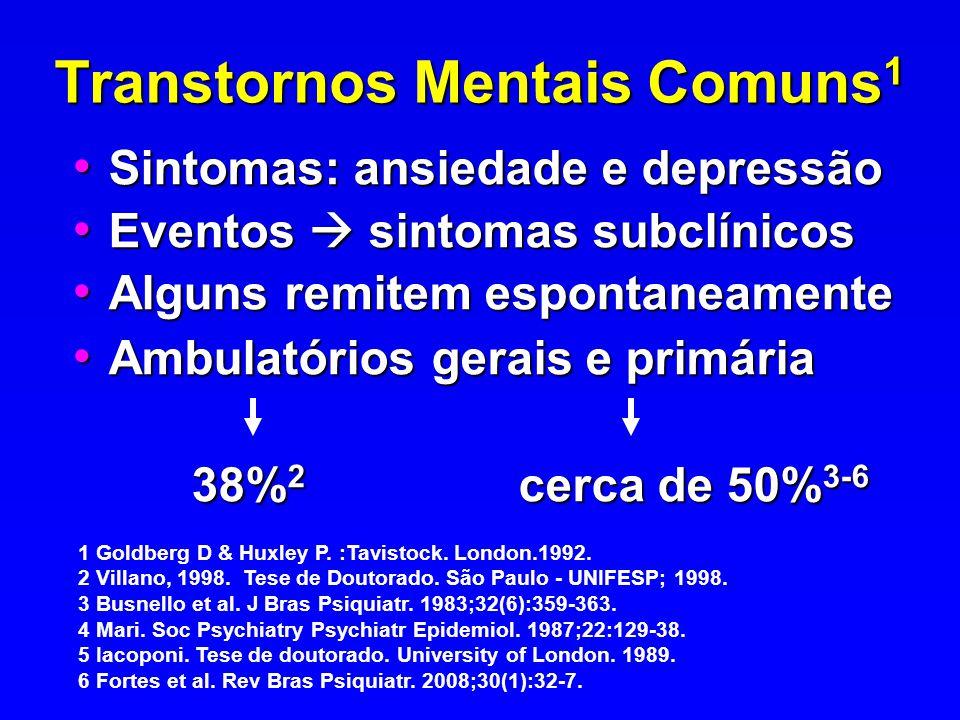Transtornos Mentais Comuns1