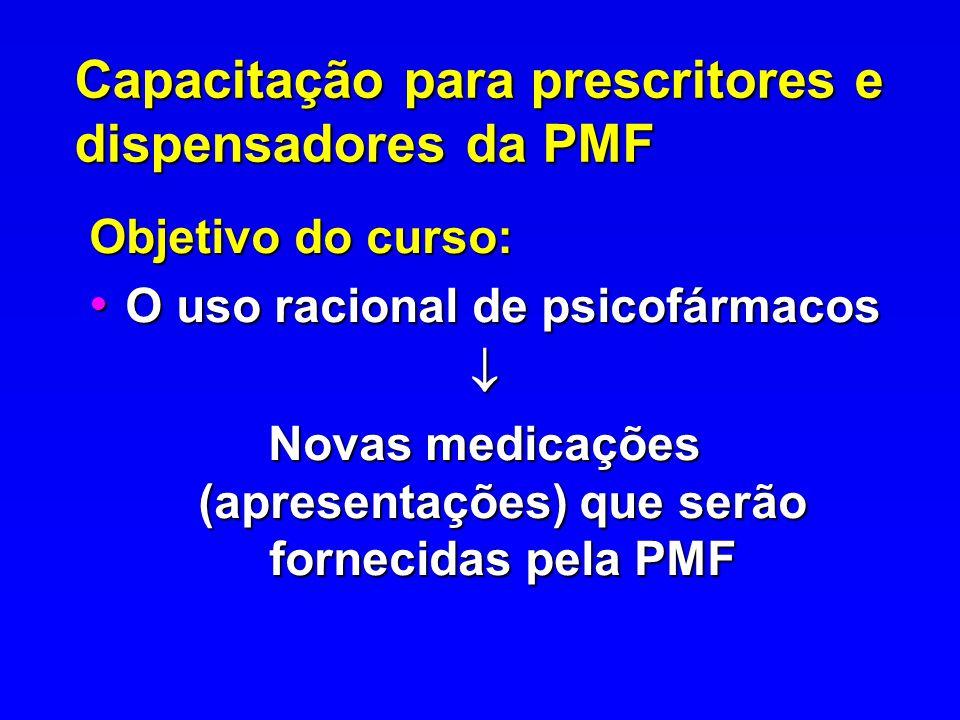 Capacitação para prescritores e dispensadores da PMF