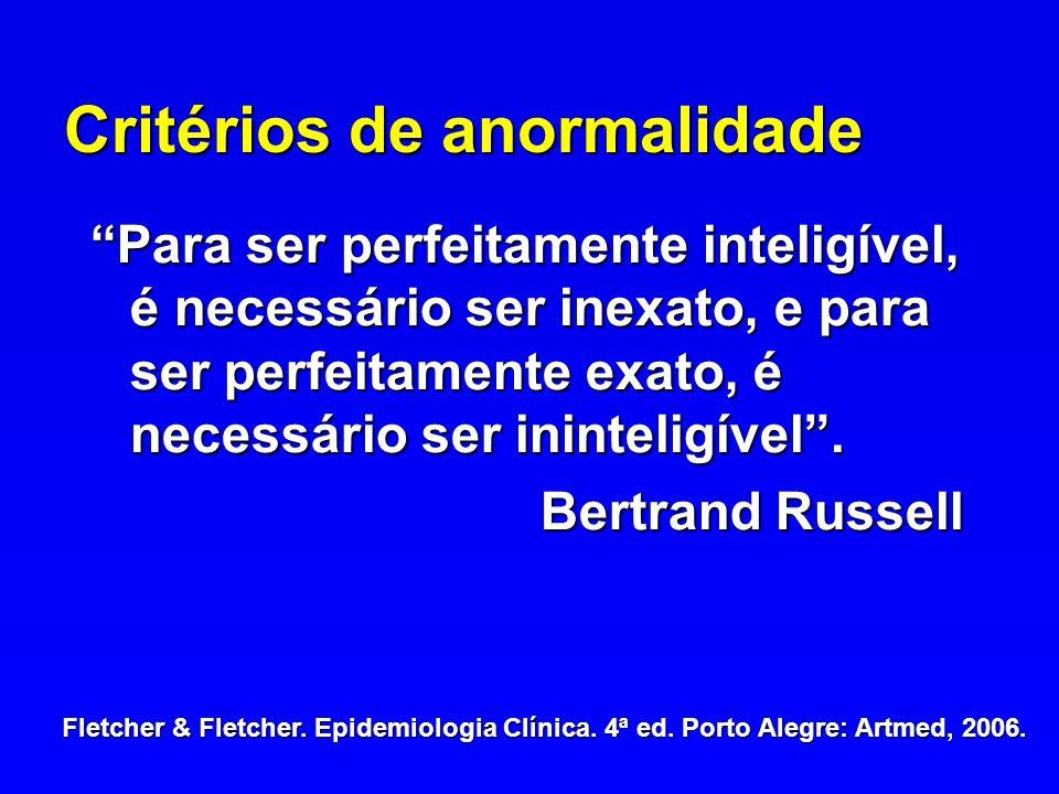Critérios de anormalidade