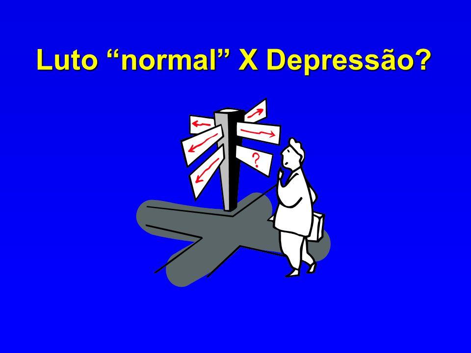 Luto normal X Depressão