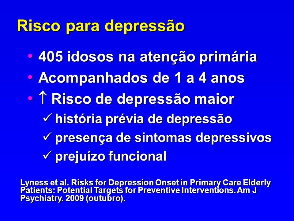 Risco para depressão 405 idosos na atenção primária