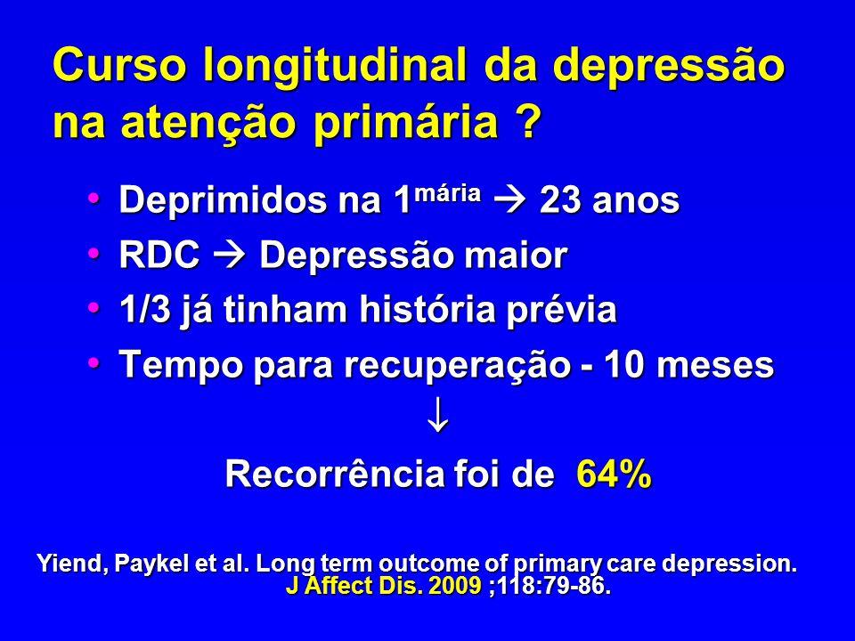 Curso longitudinal da depressão na atenção primária