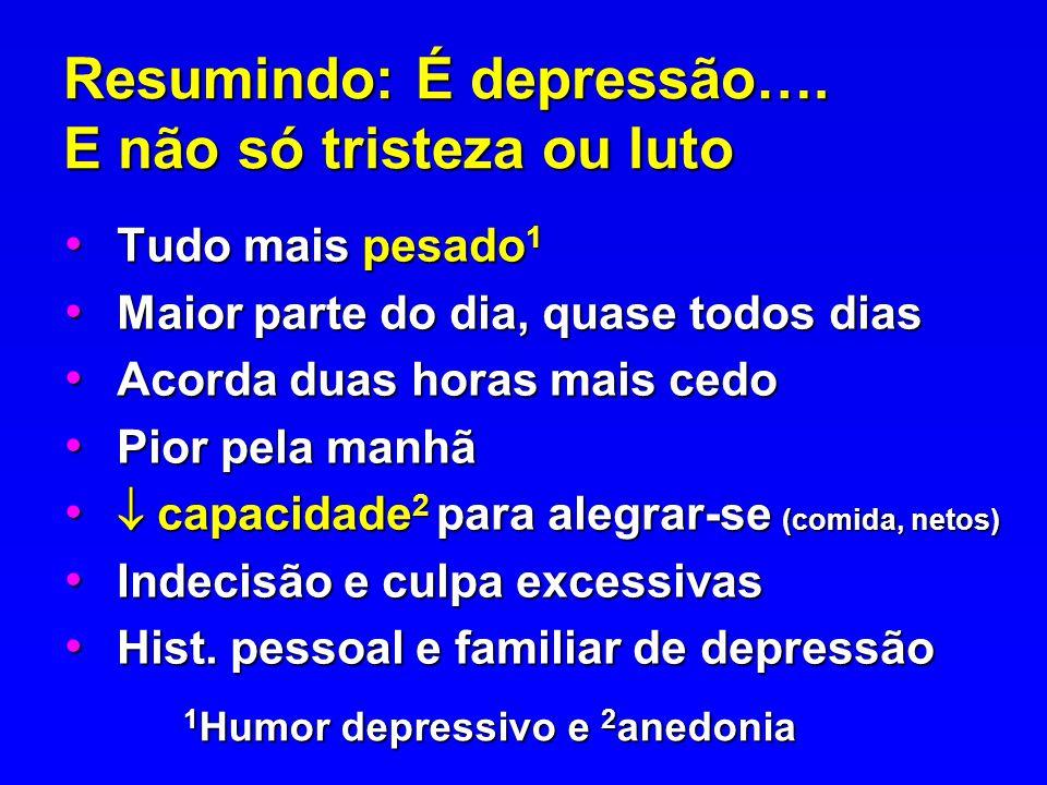 Resumindo: É depressão…. E não só tristeza ou luto
