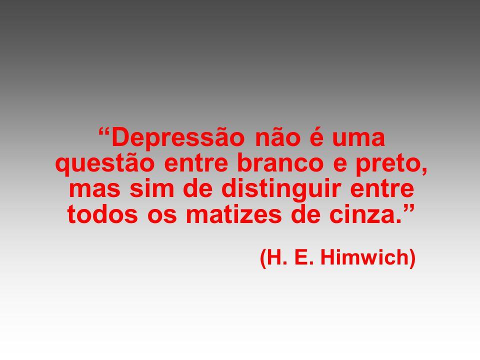 Depressão não é uma questão entre branco e preto, mas sim de distinguir entre todos os matizes de cinza.