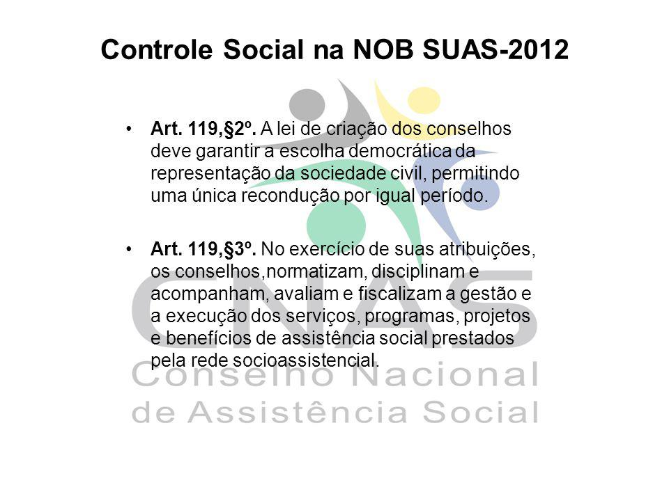 Controle Social na NOB SUAS-2012