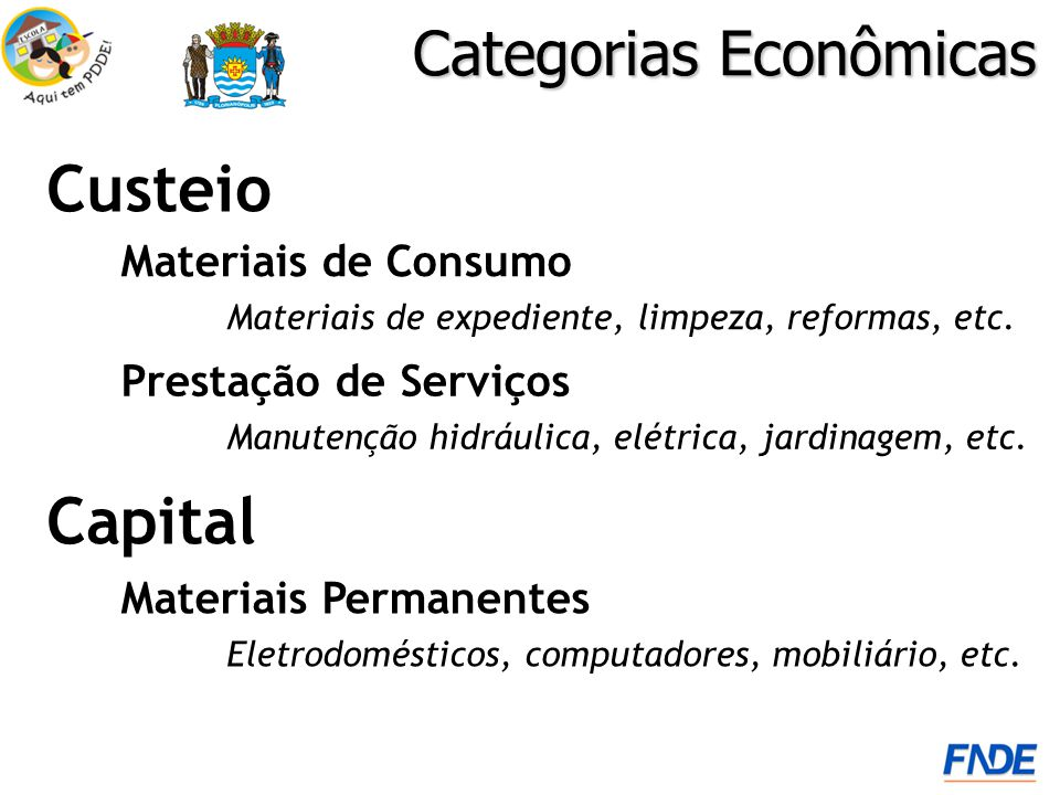 Categorias Econômicas