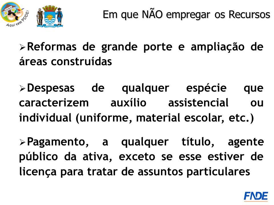 Reformas de grande porte e ampliação de áreas construídas