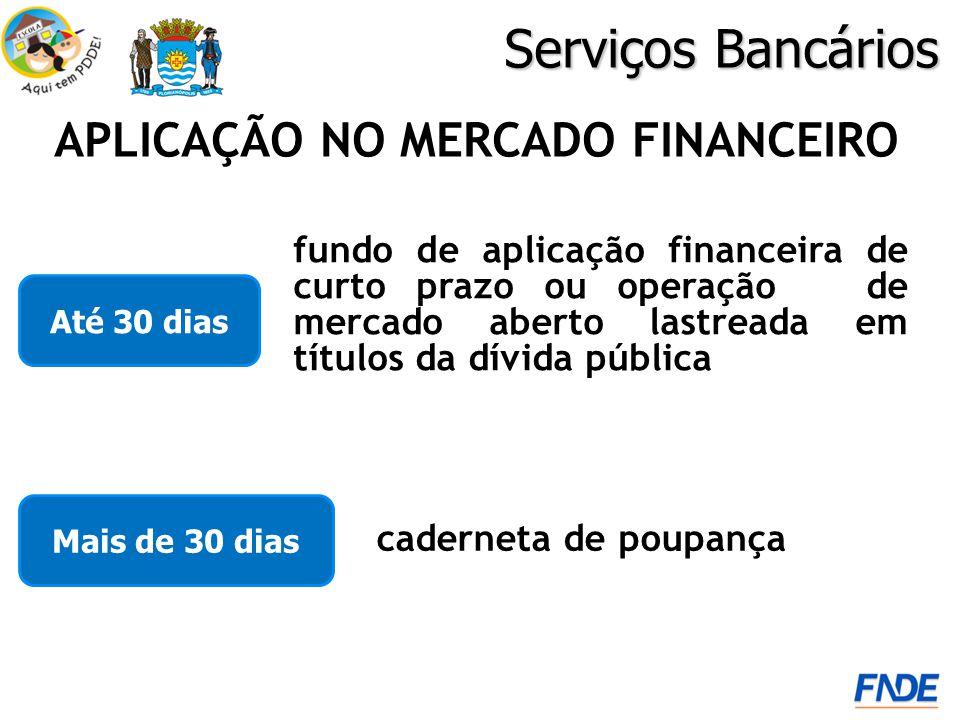 APLICAÇÃO NO MERCADO FINANCEIRO